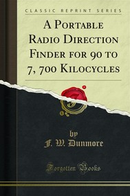 A Portable Radio Direction Finder for 90 to 7, 700 Kilocycles - copertina