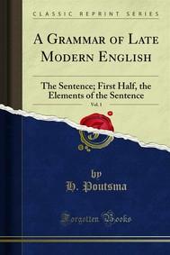 A Grammar of Late Modern English - copertina