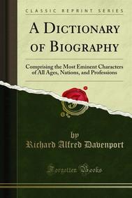 A Dictionary of Biography - copertina