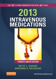 2013 Intravenous Medications - E-Book - copertina