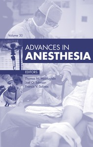 Advances in Anesthesia - copertina