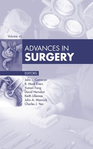 Advances in Surgery, - copertina
