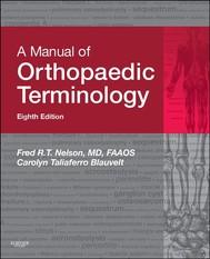 A Manual of Orthopaedic Terminology - copertina