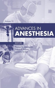 Advances in Anesthesia, - copertina