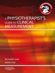 A Physiotherapist's Guide to Clinical Measurement - copertina