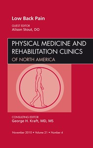 Low Back Pain, An Issue of Physical Medicine and Rehabilitation Clinics - E-Book - copertina