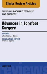 Advances in Forefoot Surgery, An Issue of Clinics in Podiatric Medicine and Surgery, E-Book - copertina
