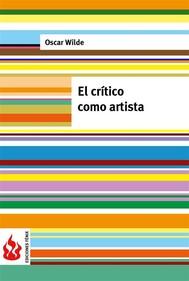 El crítico como artista (low cost). Edición limitada - copertina