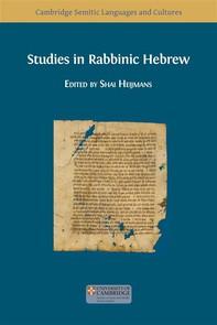 Studies in Rabbinic Hebrew - Librerie.coop