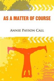 As a Matter of Course - copertina