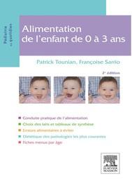 Alimentation de l'enfant de 0 à 3 ans - copertina