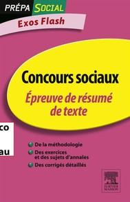 Concours sociaux Épreuve de résumé de texte - copertina