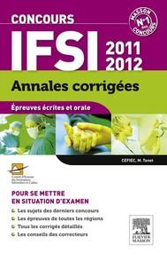 Annales corrigées Concours IFSI 2011-2012 - copertina