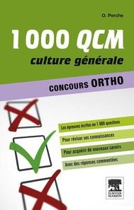 1000 QCM Culture générale Concours Ortho - copertina