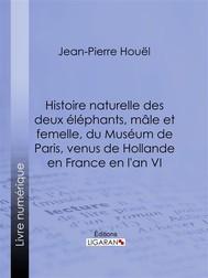Histoire naturelle des deux éléphans, mâle et femelle, du Muséum de Paris, venus de Hollande en France en l'an VI - copertina