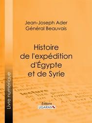 Histoire de l'expédition d'Égypte et de Syrie - copertina