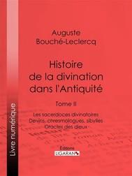 Histoire de la divination dans l'Antiquité - copertina