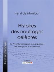 Histoires des naufrages célèbres - copertina