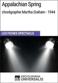 Appalachian Spring (chorégraphie Martha Graham - 1944) - copertina