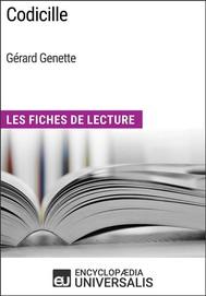 Codicille de Gérard Genette - copertina