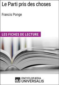 Le Parti pris des choses de Francis Ponge - copertina