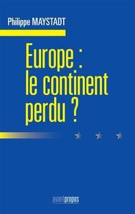 Europe : le continent perdu - Librerie.coop