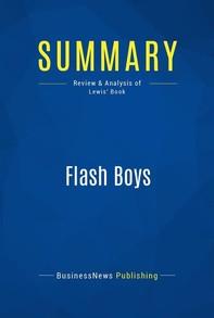 Summary: Flash Boys - Librerie.coop