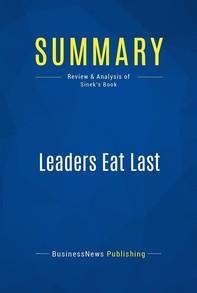 Summary: Leaders Eat Last - Librerie.coop