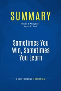 Summary: Sometimes You Win, Sometimes You Learn - Librerie.coop