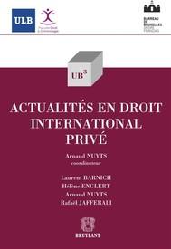 Actualités en droit international privé - copertina