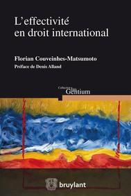 L'effectivité en droit international - copertina
