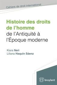 Histoire des droits de l'homme de l'antiquité à l'époque moderne - copertina