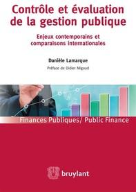Contrôle et évaluation de la gestion publique - Librerie.coop