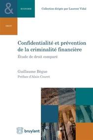 Confidentialité et prévention de la criminalité financière - copertina