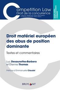 Droit matériel européen des abus de position dominante - Librerie.coop