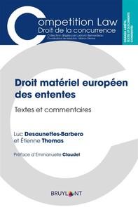 Droit matériel européen des ententes - Librerie.coop