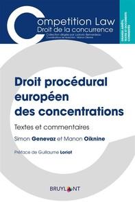 Droit procédural européen des concentrations - Librerie.coop