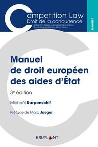 Manuel de droit européen des aides d'État - Librerie.coop