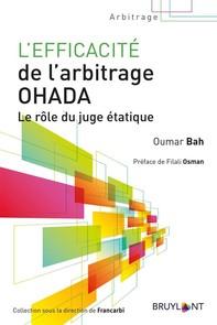 L'efficacité de l'arbitrage OHADA - Librerie.coop