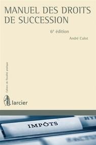 Manuel des droits de succession - copertina