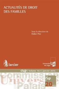 Actualités de droit des familles - copertina