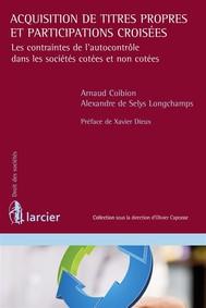 Acquisition de titres propres et participations croisées - copertina