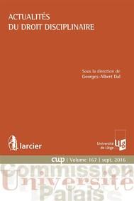 Actualités du droit disciplinaire - copertina
