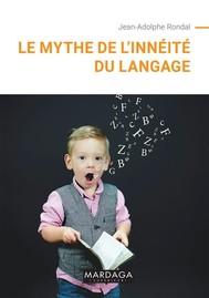 Le mythe de l'innéité du langage - copertina