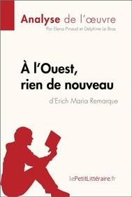 À l'Ouest, rien de nouveau de Erich Maria Remarque (Fiche de lecture) - copertina