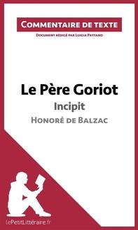 Le Père Goriot de Balzac - Incipit - Librerie.coop