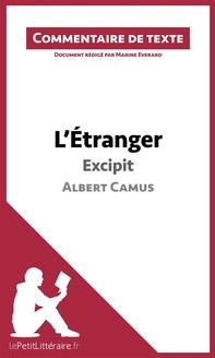 L'Étranger de Camus - Excipit - Librerie.coop