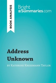 Address Unknown by Kathrine Kressmann Taylor (Book Analysis)  - copertina
