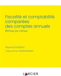 Fiscalité et comptabilité comparées des comptes annuels - Librerie.coop