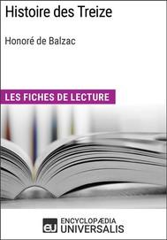 Histoire des Treize d'Honoré de Balzac - copertina